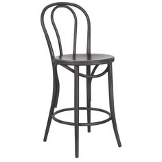 When industrial style meets warm comfort, you get this fantastic chair. The gunmetal finish gives the perfect amount of edgy style that industrial styling calls for, while the rounded piping and curved details will beckon you to have a seat.