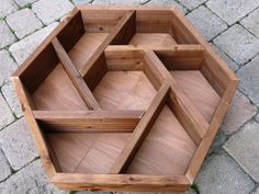 LARGE hand made wooden hexagonal patio planter / herb wheel. Grow your own HERBS