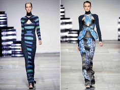 Peter Pilotto, you put your foot in your Fall 2012 collection. I'm not sure if its the patterns that create texture or the structures of the dresses. Either way I'm swooning