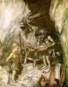 Arthur Rackham - Siegfried and the Twilight of the Gods published in 1911 - Mime…
