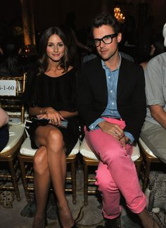 Olivia AND Brad? and Brad wearing pink pants, no less? perfection.
