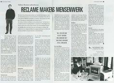 Coverstory van Nijhuis Reclame-adviesbureau in Twente Business in november 1999.
