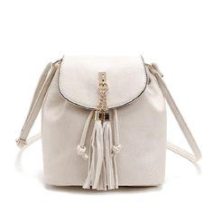 Tassel Women Pu Leather Buckle Shoulder Bags 3534