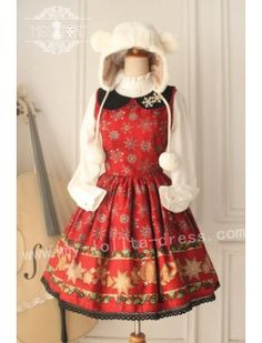 Miss Point Vintage Babydoll Collar Lolita Jumper Dress - Time-limited Offer