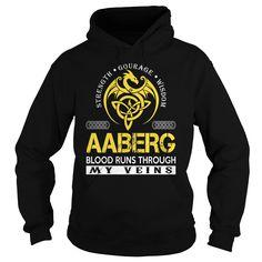 AABERG Blood Runs Through My Veins (Dragon) - Last Name, Surname T-Shirt