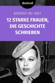 12 starke Frauen, die Geschichte schrieben Everyone should know these 12 strong women, because they have shaped and changed our world in a sustainable way! Beauty Spa, Great Women, Shed Plans, Strong Women, Women Empowerment, Good To Know, Thats Not My, About Me Blog, Health Fitness