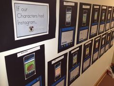 Kleinspiration: If Our Characters Had Instagram (new bulletin board: free printables to make your own)