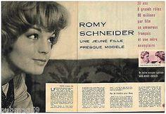 Coupure de presse Clipping 1959 (4 pages) Romy Schneider