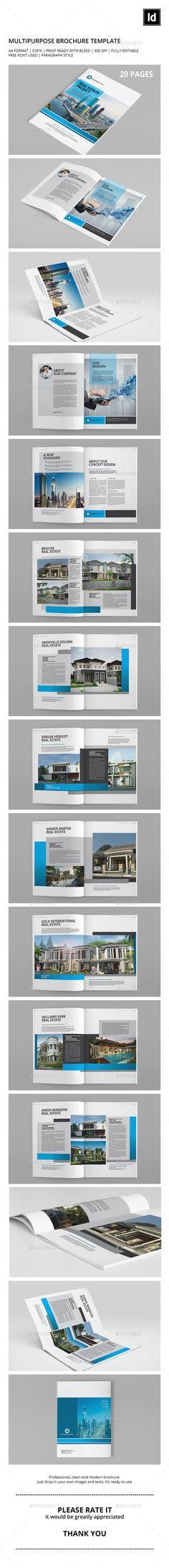 Portfolio Brochure Template Brochure template, Brochures and - interior design brochure template