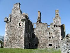 Glenbuchat Castle, near Kildrummy, Aberdeenshire, Scotland. | Glenbuchat Castle is a historic Z plan Scottish castle built in 1590 for John Gordon of Cairnbarrow to mark his wedding. It is located above the River Don, near Kildrummy, Aberdeenshire. The building is roofless, but otherwise in fairly good repair. Both the castle and the surrounding land are managed by Historic Scotland. Wikipedia