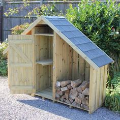 Wimborne Double Log Store with Tiled Roof for practical and stylish living