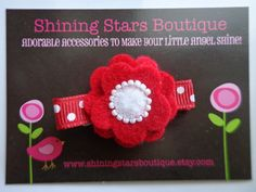 Hey, I found this really awesome Etsy listing at https://www.etsy.com/listing/197746673/hair-accessories-felt-flower-clip