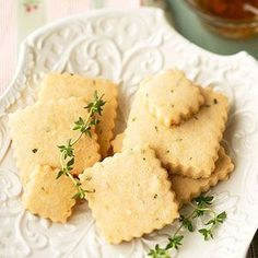 Lemon-Thyme Shortbread Cookies Laced with Honey From Better Homes and Gardens, ideas and improvement projects for your home and garden plus recipes and entertaining ideas.