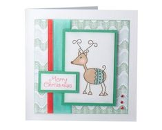 Diy Holiday Cards, Simple Christmas Cards, Handmade Christmas, Red Nosed Reindeer, Reindeer Christmas, Merry Christmas, Christmas Crafts For Adults, Christmas Ideas, Make Your Own Card