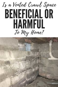 Venting is more harmful to the crawl space of your DC home than it is beneficial. You can remedy the problem by sealing the vents and encapsulating the crawl space. Crawl Space Vents, Crawl Space Repair, The Crawl, Foundation Repair, House Plans, Home, Ad Home, Homes