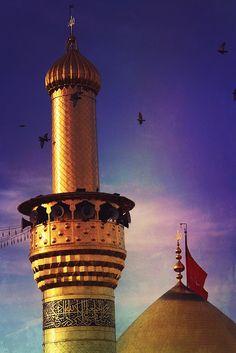 Shrine of Imam Hussein in Karbala, Iraq Islamic Images, Islamic Pictures, Islamic Art, Karbala Iraq, Imam Hussain Karbala, Imam Reza, Imam Ali, Islamic Architecture, Art And Architecture