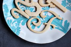 Make Your Own Typography Cookies | Julep
