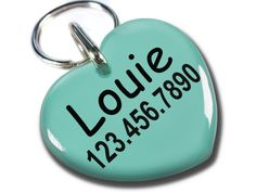 Pet tags Dog Tags Cats tags Sweet Heart Shape by ID4Pet -- You can get more details by clicking on the image.