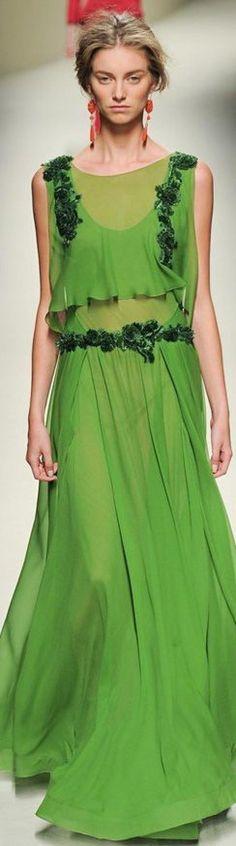 Alberta Ferretti S/S 2014 green
