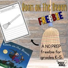 A fun and functional, no prep freebie. You can use it with the Halloween story 'Room on the Broom' or by itself!