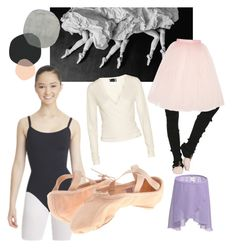 """""""Barre bébé"""" by alaskaonthemoon ❤ liked on Polyvore featuring Vision, Capezio Dance, Banjo & Matilda, Bloch, Porselli, Ballet Beautiful, ballet, bloch and nycb"""