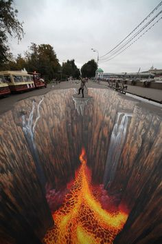 Amazing form in this street art it makes you think you are really falling into lava has a very 3d affect at the right angle. Shows good volume overall.