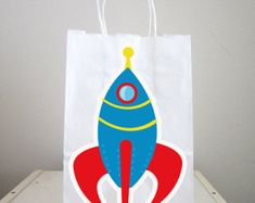 Space Rocket Goody Bags, Space Party Goody Bags, Astronaut Goody Bags, Space Goody Bags, Space Favor Bags, Astronaut Favor Bag (103161141A) Goody Bags, Favor Bags, Christening Themes, Space Party, 4th Birthday, Goodies, Etsy, Panda Party, Happy