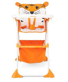Mothercare Tiger Highchair. This comfy highchair will add a touch of fun to your little one's mealtimes with it's adorable tiger theme.