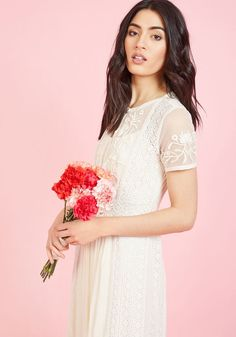 0c1a33b6383 Intricate Observance Maxi Dress in Ivory Illusion Neckline