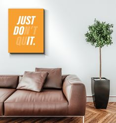 Just Don't Quit - Just Do It inspirational quotes, wall art canvas quotes & motivational quotes - office decor/office desk by IgnyteOfficial on Etsy