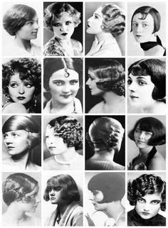 Vintage Hairstyles From the Bob To Finger Waves: Vintage Photographs Depict Some of Popular Women's Hairstyles of the Vintage Beauty, Vintage Fashion, Vintage Makeup, 1920s Makeup, Fashion 1920s, Edwardian Fashion, Foto Glamour, Pelo Retro, Retro Hairstyles