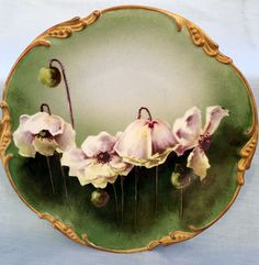 c1906 JP LIMOGES Handpainted ARTIST SIGNED Duvall Floral PLATE Antique Vintage #JPLimoges