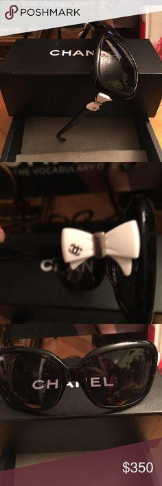 430e79ffa836 Shop Women s Chanel Black size OS Sunglasses at a discounted price at  Poshmark.