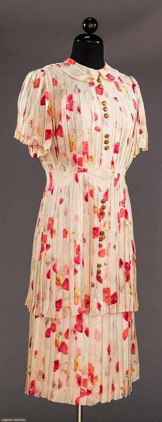 SILK CHIFFON DAY DRESS, 1930