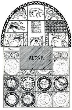 Pieve Terzagni - Chiesa S.Giovanni Decollato - Mosaico pavimentale