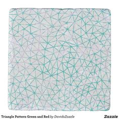 Triangle Pattern Green and Red Trivet Stone  #geometric #red #green #teal #pink #triangle #pattern #print #abstract #art #line #digital #paper #ink #hand #drawn #hip #modern #style #life #lifestyle #chic #buy #sale #zazzle #interior #design #home #decor #apartment #college #dorm #student