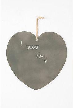 Giant Magnetic Chalkboard Heart  $19.99