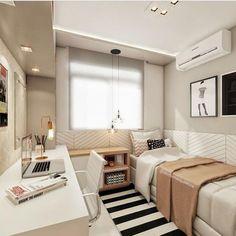 Nice 35 Spectacular Small Bedroom Design Ideas For Cozy Sleep. Single Bedroom, Small Room Bedroom, Small Rooms, Master Bedroom, Modern Bedroom, Contemporary Bedroom, Small Spaces, Bedroom Classic, Bedroom Simple