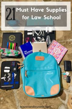Here are my 21 must have school supplies for law school | brazenandbrunette.com
