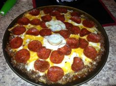 No Dough Meat Crust Pizza For The Low Carb Dieter Recipe - Food.com