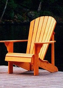Adirondack Chair Plans Scalloped Back Full Size Patterns