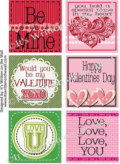 Free Valentine's Day Lunchbox Notes for the kids. See all 36 here