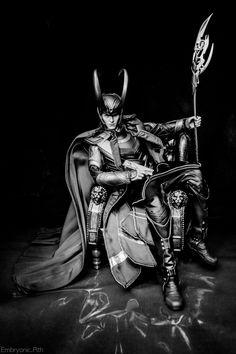 King Loki, Chillaxin' (B/W) by EmbryonicPith on DeviantArt