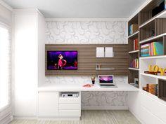 Home Office com Móveis sob medida - Julieinada.com.br