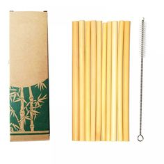 Reusable Biodegradable Organic Bamboo Drinking Straws Set of 10 Straws Extremely strong and durable by nature Contain no Inks or Dyes Size: Items are supplied per order. Stainless Steel Straws, Stainless Steel Metal, Plastic Waste, No Plastic, Bar Pas Cher, Organic Cleaning Products, Eco Products, Kitchen Products, Metal Straws