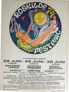 Roskilde Festival in Denmark, from 28th to 30th June 1974