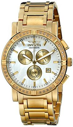 Women's Wrist Watches - Invicta Mens 4743 II Collection Limited Edition Diamond GoldTone Watch >>> For more information, visit image link. (This is an Amazon affiliate link)