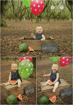 Watermelon session! 1 Year pics!