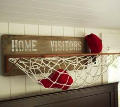 his storage solution is a slam dunk! And of course, now you can make a game of putting away your stuff, and get a bit of extra practice in before bed.