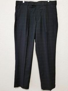 Perry Ellis-  Men's Dress Pants - Size 36 X 30  - Black Plaid (Polyester Blend) Slacks  #PerryEllisPortfolio #DressPleats ..... Visit all of our online locations.....  www.stores.eBay.com/variety-on-a-budget .....  www.stores.ebay.com/ourfamilygeneralstore .....  www.etsy.com/shop/VarietyonaBudget .....  www.bonanza.com/booths/VarietyonaBudget .....  www.facebook.com/VarietyonaBudgetOnlineShopping